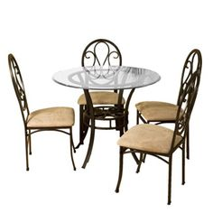 I love this dinette set, I think it matches the pendant very well.