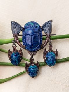 1920s Egyptian Revival Scarab Brooch
