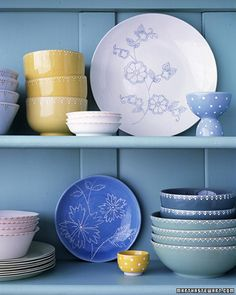 Painted China - It's easy to find plain, reasonably priced ceramic pieces at home goods stores; applying dot-painted designs transforms them into meaningful gifts. Add a friend's monogram or favorite motif, or design a pretty pattern yourself. For an elegant presentation, tie a stack of flower-covered plates with a ribbon.
