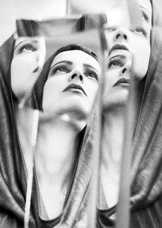 <i><b>Azzedine Alaia />Photographer: David Seidner<br />Model: Betty Lago</i> Richard Avedon, Portrait Photography, Fashion Photography, Distortion Photography, Wow Photo, Azzedine Alaia, Double Exposure, Black And White Photography, Divas