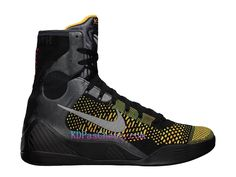 reputable site ab2b1 b3e27 Nike Chaussures Basket - Nike Kobe 9 Elite Inspiration Noir Jaune Pas Cher -630847-