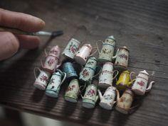 2018.04 Miniature Tea Pot  Dollhouse   ♡ ♡ By  Kiyomi