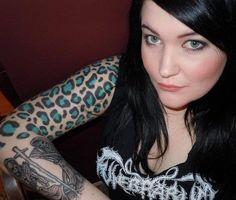 Ideas for tattoo sleeve animal art prints Leopard Tattoos, Skull Thigh Tattoos, Tattoo Girls, Girl Tattoos, I Tattoo, Tattoo Quotes, Tattoo Flash, Tatoos, Tattoos For Women Half Sleeve
