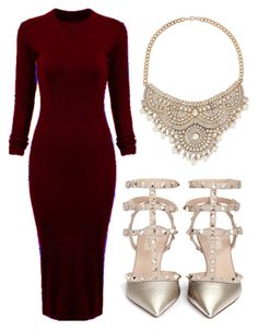 """""""Untitled #353"""" by fashion-xoxo-lari on Polyvore featuring WithChic, Bebe and Valentino"""