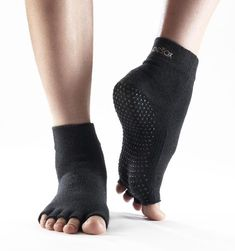 GEO Pilates Socks Half Toe Non Skid Yoga Shoes with Grips Cross Wrap