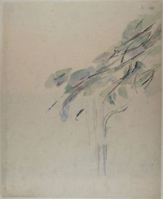 Study of a Tree, Paul Cézanne, c. 1895-1900 | Museum Boijmans Van Beuningen
