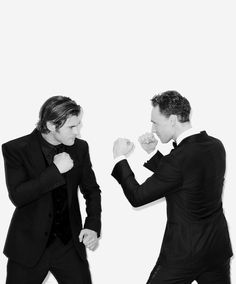 Chris Hemsworth & Tom Hiddleston (Thor & Loki)