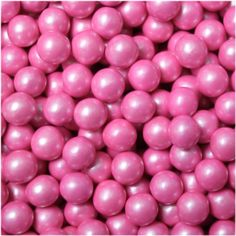 """Two pounds of Pink Pearl colored candy coated, chocolate flavored Sixlets candy. These are great for """"pink pearl"""" color themed parties, weddings and events. Bulk Chocolate, Chocolate Pearls, Chocolate Flavors, Sixlets Candy, Kosher Candy, Bulk Candy, Wedding Candy, Colorful Candy, Pearl Color"""