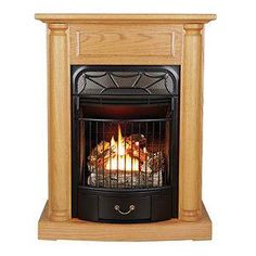 600 Freestanding Ventless Gas Fireplace Propane