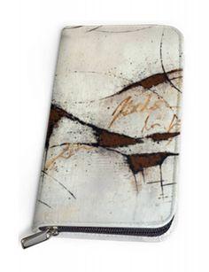 #Damenbrieftasche in Leder 'Botschaft'. Keine Brieftasche gleicht zu 100% einer anderen. EIN UNIKAT NUR FÜR DICH. #freistilkunstcfischer #Brieftasche #Geldbörse #Portemonnaie #Mode #Style #Fashion