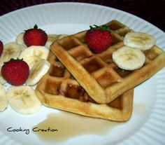 Cooking Creation: Strawberry-Banana Waffles