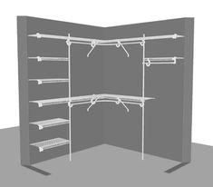 'L' Shape Closet 2 - x / x - Garderobe Corner Closet, Corner Wardrobe, Wardrobe Closet, Master Closet, Closet Bedroom, Hallway Closet, Closet Shelves, Closet Storage, Bedroom Storage