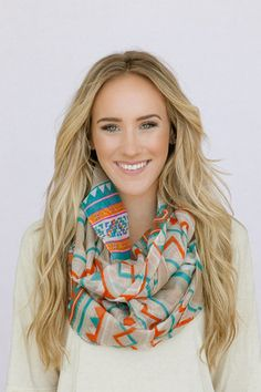 Aztec Infinity Loop Scarf, this site has lots of cute scarves