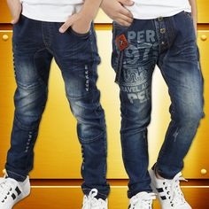 47.82$  Watch now - http://ali6nq.worldwells.pw/go.php?t=32698293015 - Children's clothing male child jeans trousers spring and autumn child trousers pants casual 2016