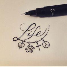 """Arte feita por <a href=""""http://instagram.com/pinkbecker"""">@pinkbecker</a>!  Quais são os sentimentos que fazem parte da sua vida? Da nossa é"""