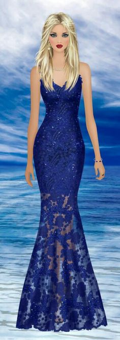 Water Guardian Maxi Outfits, Virtual Fashion, Evening Dresses, Formal Dresses, Covet Fashion Games, Lovely Dresses, Fashion Sketches, Ball Gowns, Illustration
