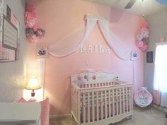 Baby's Nursery.  #baby #nursery #girl #princess