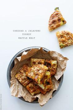 Cheddar Jalapeno Turkey Waffle Melts