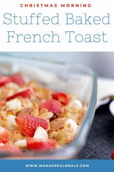 Need an easy make ahead breakfast for Christmas morning? This cream cheese stuffed french toast bake comes together with only 10 minutes prep time! Overnight French Toast, French Toast Bake, French Toast Casserole, Breakfast Casserole, Clean Eating Breakfast, Second Breakfast, Make Ahead Breakfast, Christmas Breakfast, Christmas Morning