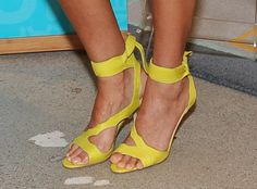 Hello Yellow from Guess Stars' Summer Sandals  This Fantastic Four actress is also well known for her eco-friendly line The Honest Company.