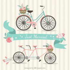 Just Married rowery Darmowych Wektorów