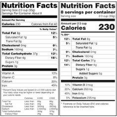 Un changement d'attitude envers les gras et les sucres reflété par un nouvel étiquetage des aliments aux É-U