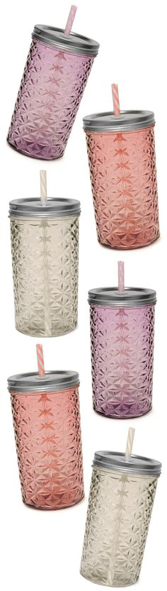 Textured high ball jar tumblers - much more glam than ordinary glasses! #product_design