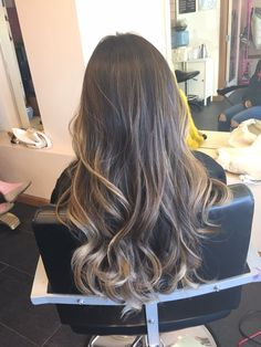 dramatic balayage asian long hair