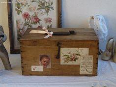 Petit coffre ancien revisité Brocante de charme atelier cosy.fr