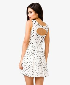 Polka Dot Fit & Flare Dress | FOREVER 21 -