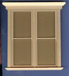 5 x 6 Traditional Window [AC 1116] - $19.00 : Miniature Dollhouses & Doll House Supplies | Earth & Tree Miniatures & Dollhouses