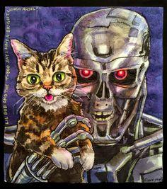 Lil Bub and Terminator