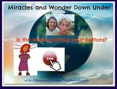 """Boy I can really use this show today...Is the world pushing your buttons? http://Miracles.CreatingCalmNetwork.com If the world is pushing your buttons...........How to see reason? Where is your focus today?  Are you thinking, """"How do I stay immune from the ebola virus?"""" Does it keep you  up at night wondering what do we do with the refugee 'problem'? Are you desperate to know how we are all going to live together in peace?"""