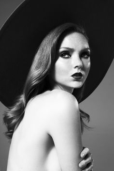 Lily Cole. Amazing lighting, clean, well defined blacks, whites and grays. Very elegant.