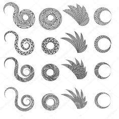 Этнические цветочные zentangle, каракули фоновый узор круг, крылья элементы в векторе. Хны менди Пейсли каракули дизайн, племенной элемент. Черно-белый узор для книжка-раскраска для детей и взрослых — стоковая иллюстрация #123478596