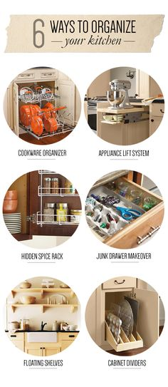 6 Ways to Organize Your Kitchen (click through for products and ideas) :: The Apron Blog - Home Depot