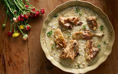 Gamopilafo - Greek Wedding Lemon Risotto with Lamb The Kitchen Food Network, Greek Wedding, Greek Recipes, Food Network Recipes, Hummus, Risotto, Lamb, Food And Drink, Treats