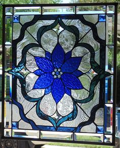 Beautiful Beveled and Jeweled Glass Window Hanging ... measures 23 1/4 X 20 1/4...POLISHED BRASS FRAME(edging)...Hangs either way....like this design but wrong colors or dimensions?.......custom orders are what I do....visit: stevesartglass