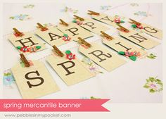 Spring Mercantile Banner - Pebbles In My Pocket