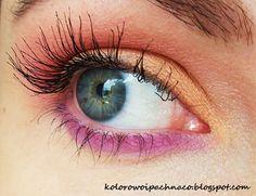 eyeshadows Makeup Geek: * Peach Smoothie * Mango Tango * Wisteria * Vanilla Bean  mascara: Rimmel Day2Night