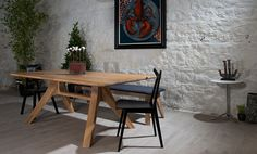Made from solid edge-glued panel, making it environmentally sustainable and possible to produce in just about any wood available, the Veizla has an attractive, angular design and would suit both modern and classic spaces. Oak Dining Table, Design Awards, Teak, Solid Wood, Furniture Design, Modern, Home Decor, Homemade Home Decor, Trendy Tree