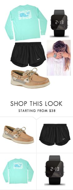 Last day of school ❤️ by ambertebbe on Polyvore featuring Vineyard Vines, NIKE, Sperry and 1:Face