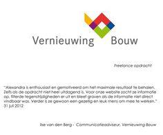 Recommendation Ilse van den Berg - Communicatieadviseur Vernieuwing Bouw