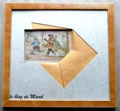 Mes encadrements / enveloppe rectangulaire Paper Collage Art, Paper Art, Paper Crafts, Crafts With Pictures, Creative Pictures, Iris Paper Folding, Unique Picture Frames, Photo Frame Design, Custom Mats