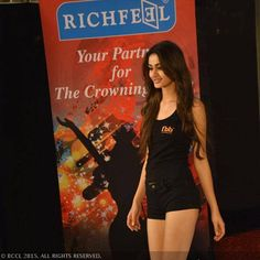fbb Femina Miss India 2015 finalist Aditi Arya being judged at the Richfeel Miss Beautiful Hair round in Mumbai.