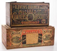 Vintage Crates, Old Crates, Vintage Wood, Vintage Packaging, Flea Market Finds, General Store, Wood Boxes, Vintage Advertisements, Signage