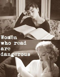 Women who read are dangerous - Audrey Hepburn and Marilyn Monroe reading I Love Books, Good Books, Books To Read, My Books, Music Books, Lectures, Love Reading, Woman Reading, Reading Books
