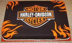 Pink Outside the Box Cakes: Harley Davidson Cake