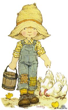 Happy Childhood World by Sarah Key little helper Sarah Key, Holly Hobbie, Decoupage, Sara Key Imagenes, Vintage Cards, Retro Vintage, Sunbonnet Sue, Australian Artists, Cute Illustration