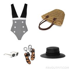 Style Inspirations With La Perla One-Piece Swimsuit Shoulder Handbag Rag & Bone Hat And Uv Protection Glasses From June 2016 #outfit #look